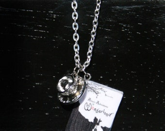 Alice in Wonderland Mini Book Necklace