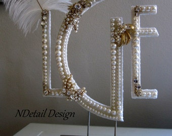 gatsby wedding cake toppers popular items for gatsby cake topper on etsy 14655