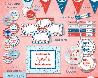 Little Aviator MINI Set • Baby Shower • PRINTABLE • by The Occasional Day