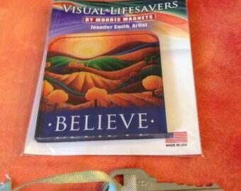 Believe Art Magnet, Rolling Hills, Wine Country, landscape