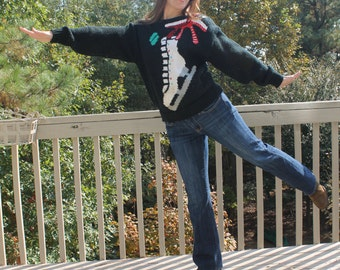 Ice Skate Christmas Sweater by Work in Progress by Gladys Bagly
