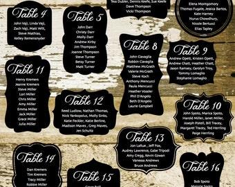 Rustic Printable Wedding Seating Chart, Rustic Wedding Seating, Reception Template Seating Chart, Vintage Seating Chart