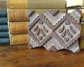 Wooden Wallpaper Print Block, Letterpress