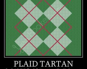 Plaid Tartan - Afghan Crochet Graph Pattern Chart - Instant Download