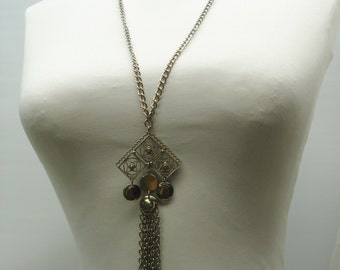 SALE -- 1960s filagree necklace