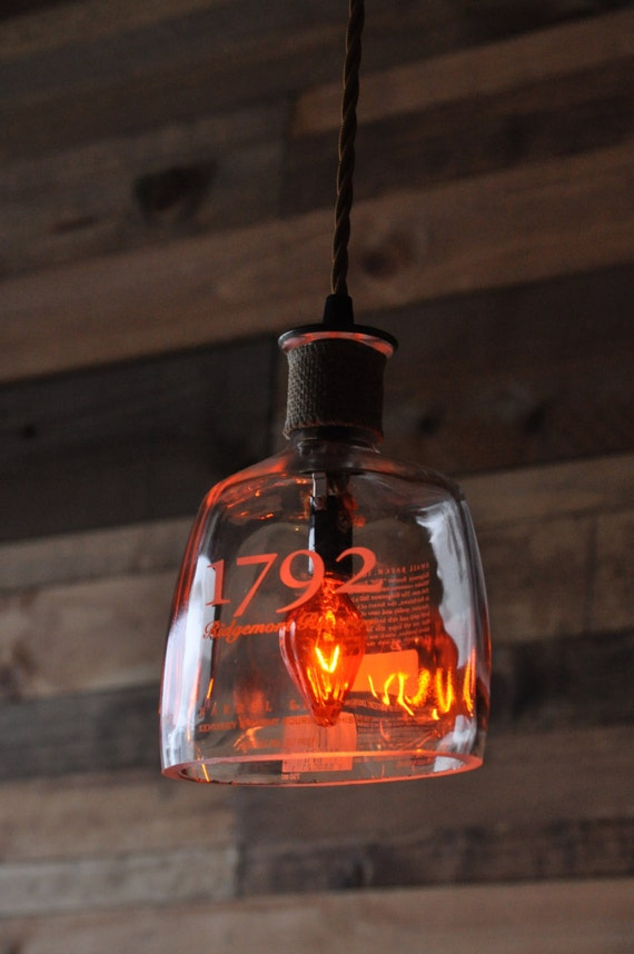 Recycled Bottle Lamp 1792 Hanging Pendant by