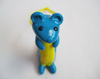Weasel Ornament - Teal - Ready to Ship