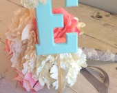 Birthday Monogram Cake Topper by Burlap and Linen Co