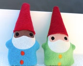 Catnip Gnome, Toy for Cat, Plush Embroidered , Vegan Cat Toy
