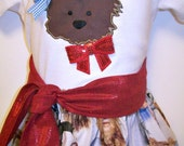 Wizard of Oz - Toto - Outfit - T-shirt - Skirt - Red Glitter Sash Tie - 2T - 3T - 4T