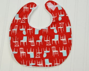 Baby Bib with Retro Dining Chairs