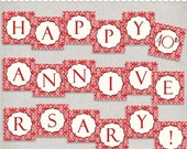 Instant Download 40th Anniversary Banner - printable PDF