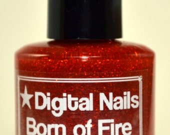 Born of Fire: Digital Nails nail lacquer inspired by Daenerys Targaryen of Game of Thrones