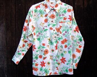 Vintage Floral Blouse