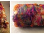 Fiber Batt, Art Batt, Fiber Art Batt for Spinning or Felting - 2.45 ounces