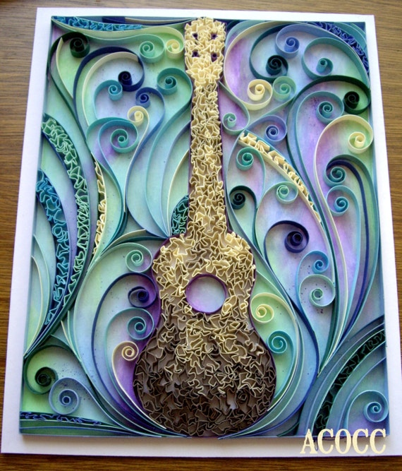 Items Similar To Quiller Ukulele Paper Quilling With