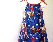 Girls Dress - Sun dress  Size M - Fourth of July