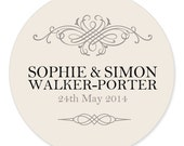 Personalized Wedding Party Gift Label | Hawkin