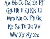 Machine Embroidery Font, Whipper Embroidery Font Set, Instant Download