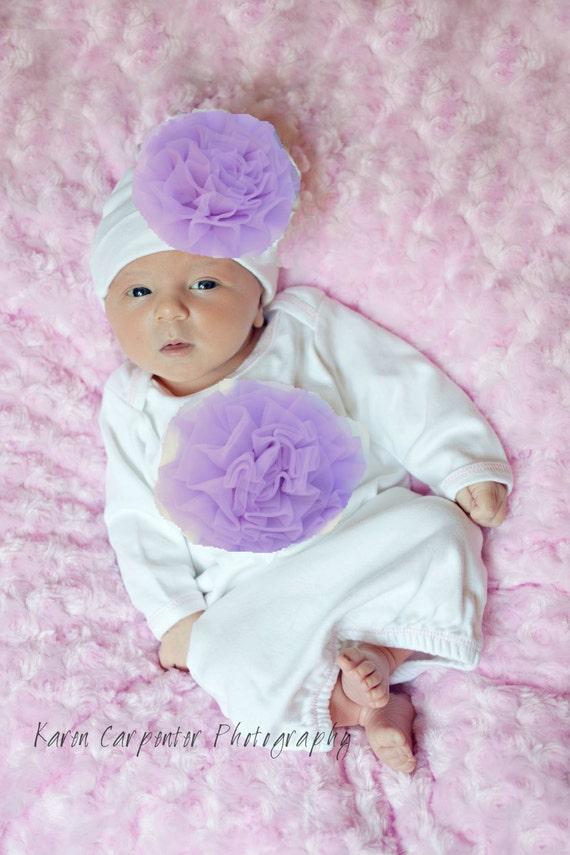 Lavender baby clothes