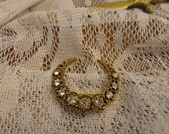 Victorian Crescent Honeymoon Brooch