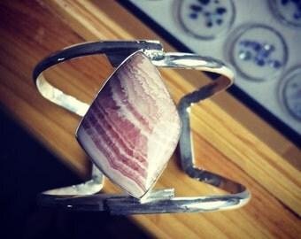 Rhodochrosite Sterling Silver Bracelet