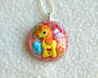 Yellow Jewel Pony Necklace