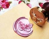 Buy 1 Get 1 Free -  1 pc Butterfly Gold Plated - Handmade retro gifts Wax Seals Stamp Wax Seal(WS19)