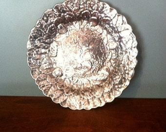 Vintage Reed and Barton Silver Plated Strawberry Motif Tray