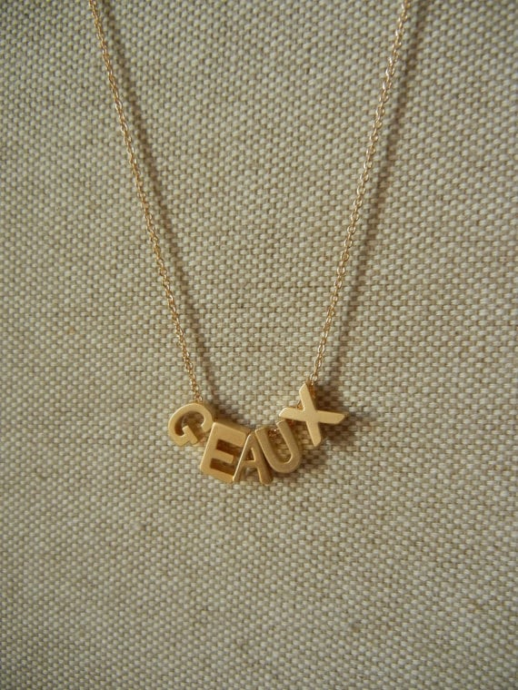 Gold Geaux Necklace