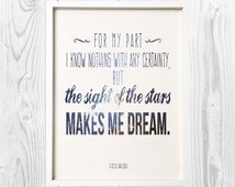 The Sight of the Stars Vincent Van Gogh Quote Print Digital Art Wall Decor
