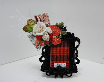 Altered Picture Frame - Black with Red