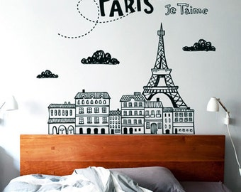 Doodle Paris Wall Sticker - Vinyl Wall Sticker