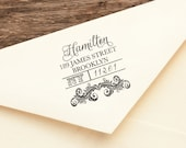 Faux Bois - Personalized Wooden Stamp - Address - Wedding - FREE SHIPPING