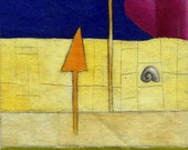 Abstract Landscape With Snail - Special Price - Free Shipping