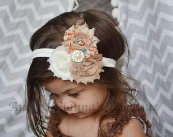 Baby Headband, Fall Headband, Thanksgiving headband, newborn photo prop, infant headband, First thanksgiving, baby accessories