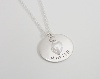 Mommy Necklace - Sterling Silver Hand-Stamped Jewelry - Personalized Mother's Day Necklace