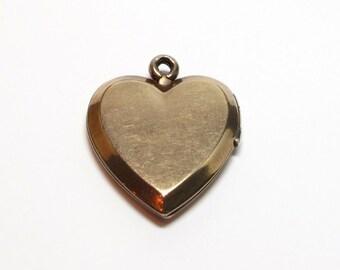 Vintage Locket - Gold Filled Heart Shape - Portrait - Keepsake - Pendant Charm - Sweetheart # 16