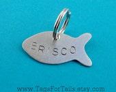 Fish Pet Tag - custom cat id tag - petite handmade