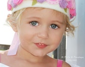 Small Felt Crown, Birthday Crown, Roses, Pink, Ivory, White, Purple, First Birthday, Smash Cake, Photo Prop