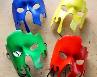 Splat leather mask - Made to Order