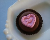 12 Chocolate Love Heart Cookie Wedding Bridal Baby Shower Favors Quinceanera Candy Valentine's Day
