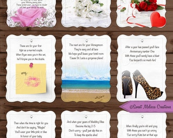 Lifelong Panty Line Poem  - Bridal Shower - Bachelorette Party - Lingerie Clothesline- Panty Poem - Cards by Sweet Melissa Creations