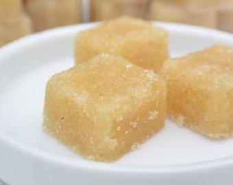 Orange and Ginger Single Serve Scrub, 10 Cubes, Choice of Sugar or Salt, Choice of Scent, Wonderful Exfoliation & Healthy Skin