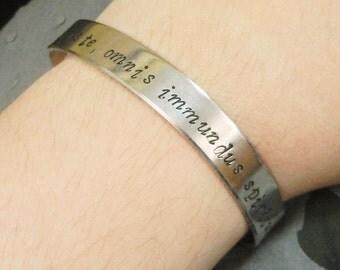 Stamped bracelet supernatural jewelry dean winchester bracelet sam