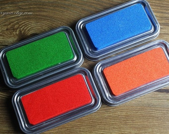 Premium Quality Tin Box Packed Stamp Pad - Rubber Stamp Ink Pad - Stamp Ink - 4 colors can choose