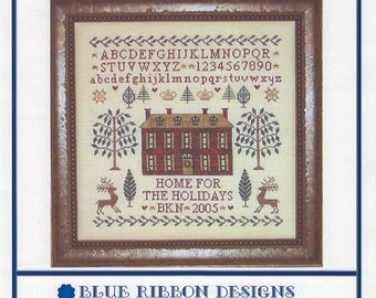 The Christmas House II - Home for the Holidays (BRD-017) Cross Stitch Design