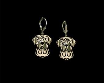 Tosa Inu earrings - gold.
