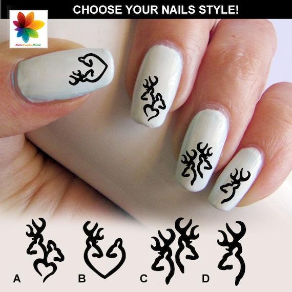 Browning Nail Art Decals Nail Art Decals Deer Logos Browning Nails