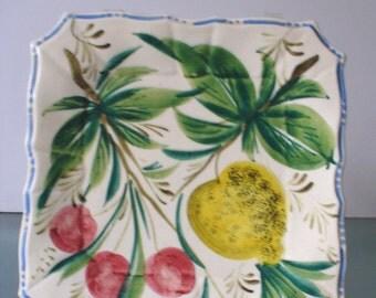Vintage A. Borsato Nove Made in Italy Ceramic Plates (2)